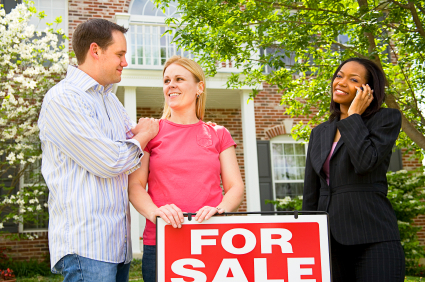 A couple who are purchasing their first home.